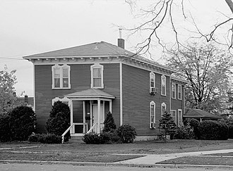 First Congregational Parsonage - First Congregational Parsonage in 1986