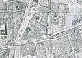 Paseo de Recoletos y plaza de toros de la Puerta de Alcalá, plano de Madrid, 1848, de Francisco Coello (cropped).jpg