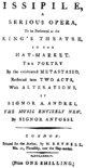 Pasquale Anfossi - Issipile - titlepage of the libretto - London 1784.png