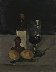 Still Life with Bottle, Glass, andLemon (Bouteille, verre et citrons)