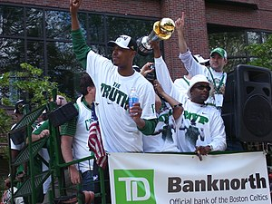 Paul Pierce - Pierce at the Celtics' 2008 championship parade.