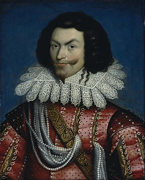George Villiers, 1st Duke of Buckingham - Portrait by Paul van Somer, before 1622