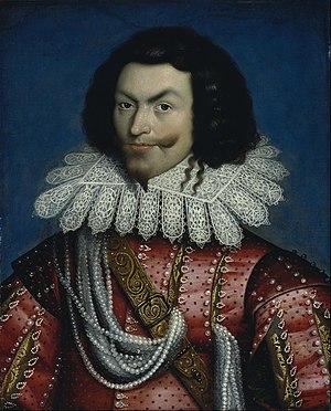 George Villiers, 1st Duke of Buckingham - Portrait by Paul van Somer, before 1622