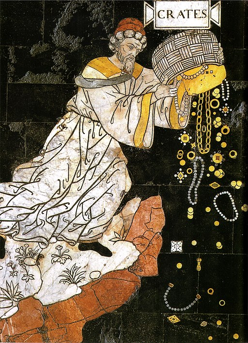 Pinturicchio, Allegoria del colle della Sapienza, particolare Socrates (Pavimento Duomo di Siena, Siena)