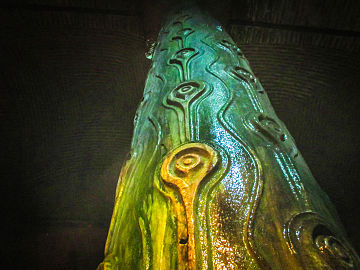 Peacock-eyed column in the Basilica Cistern in Istanbul, Turkey, January 20, 2014.jpg