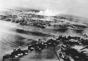 Pearl harbor 12-7-41 from attacking plane Nara 80-G-30550.png