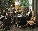 Peder Severin Krøyer - The Hirschsprung family portrait. From the left Ivar, Aage, Heinrich, Oscar, Robert, Pauline and Ell... - Google Art Project.jpg