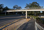 Pedestrian bridge over McKenzie Ave, Saanich, British Columbia, Canada 01.jpg