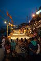 People watching Ganga aarti at Dasaswamedh Ghat, Varanasi.jpg