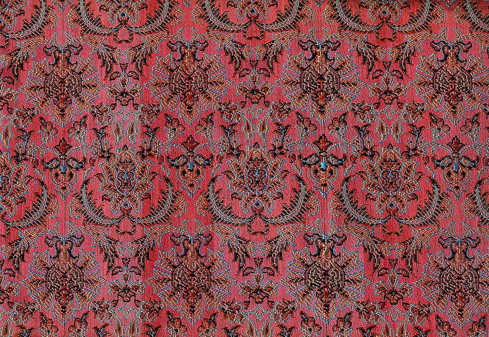 Persian Silk Brocade - Shah Abbasi Flower - Seyyed Hossein Mozhgani - 1974