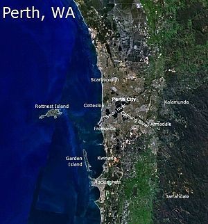 Perth - Satellite image of Perth