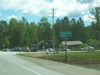 Peshtigo, Wisconsin - Sign