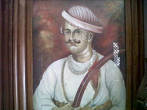 Ethnic communities in Kanpur - A portrait of Nana Sahib at the Peshwa Memorial atop Parvati Hill in Pune, India