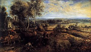 1636 in art - Rubens – An Autumn Landscape with a View of Het Steen in the Early Morning, National Gallery