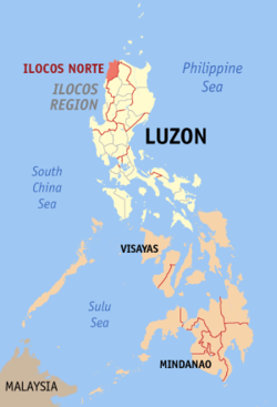 Map of the Philippines with Ilocos Norte highlighted