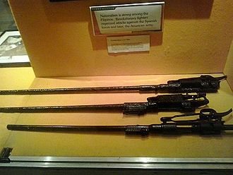 Asymmetric warfare - Remnants of rifles used by Filipino soldiers during the War on display at Clark Museum.