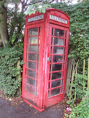 Phone booth on Lidgett Park Road, Leeds.