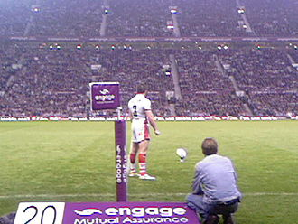 St Helens R.F.C. - Jamie Lyon preparing to kick at goal for St Helens in the 2006 Super League Grand Final