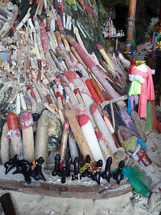 Palad khik - Palad khiks at the Phra Nang Cave on Railay Beach in Krabi Province