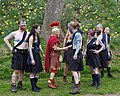 Picts (Two Left Feet) and Romans (Antonine Guard Living History Society) at the Roman vs Picts 5k race, Callendar House.jpg