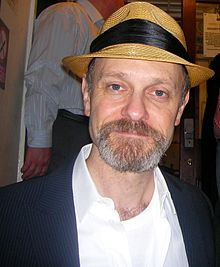 Pierce after the final performance of La Bête in London.jpg