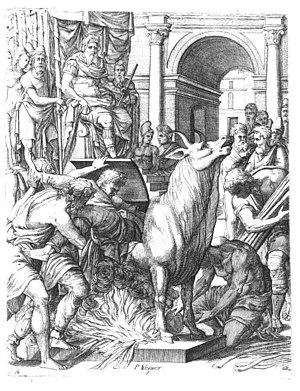 Phalaris - Phalaris condemning the sculptor Perillos to the Bronze Bull