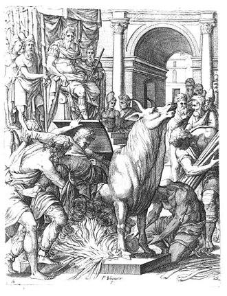 Phalaris - Phalaris condemning the sculptor Perillos to the Bronze Bull