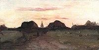 Piet Mondriaan - Landschap met kerktoren en hooiberg - A35 - Piet Mondrian, catalogue raisonné.jpg