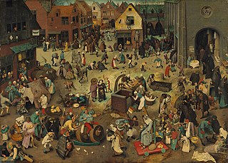 The Fight Between Carnival and Lent - Pieter Bruegel the Elder 1559