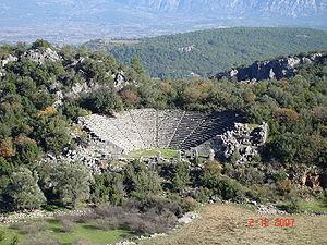 Pinara - The theatre of Pinara.