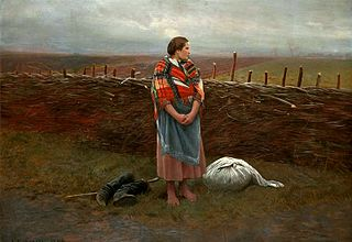 Homeless (Country girl at the fence).