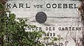 Placa en honor a Karl von Goebel, Jardín Botánico, Múnich, Alemania 2012-04-21, DD 01.JPG