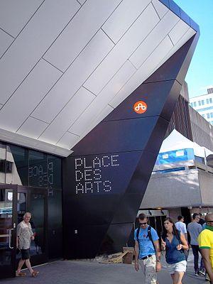 Place des Arts - Place des Arts cultural complex entrance, view from Sainte-Catherine Street.