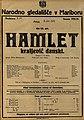 Plakat za predstavo Hamlet kraljevič danski v Narodnem gledališču v Mariboru 5. junija 1925.jpg