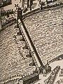 Plan de la ville de Tholose (Melchior Tavernier, 1631) - détail - Pont Couvert.jpg