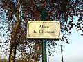 Plaque Allée Château St Cyr Menthon 2011-11-11.jpg