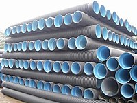 Plastic courrugated pipe