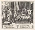 Plate 17- Venus chastising Cupid, who sits on a bed, with Psyche at right, from the Story of Cupid and Psyche as told by Apuleius MET DP862823.jpg