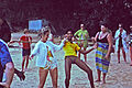 Playing limbo on the beach in Jamaica, 1971.jpg