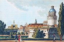 Pleißenburg 1804 mit Sternwarte.01.jpg