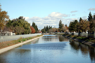 Pocket-Greenhaven, Sacramento, California - Part of the large canal system in the Pocket