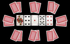 Deutsch: Poker - Karten beim Texas Hold'em für...