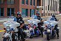 Police escort for Clinton motorcade 06 - Akron Ohio - 2016-10-03 (29473958483).jpg