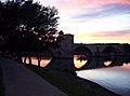 Pont St-Bénezet au soir estII.JPG