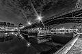 Pont des Arts at night, Paris 1 April 2014.jpg