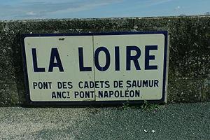 Battle of Saumur (1940) - Pont des Cadets de Saumur sign