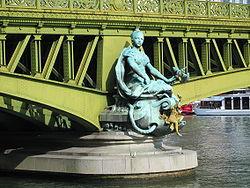 Rappresentazione della città di Parigi sul Ponte Mirabeau (1897)