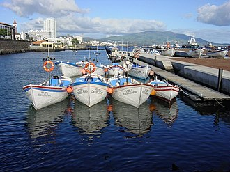 Ponta Delgada - Part of the fisherman's wharf of the Port of Ponta Delgada: a centre of fish catchers in southern São Miguel