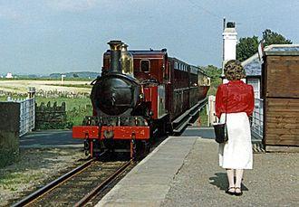 Isle of Man Railway - Entering Port St Mary railway station (1988)