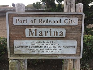 Port of Redwood City - Image: Port of Redwood City Marina sign